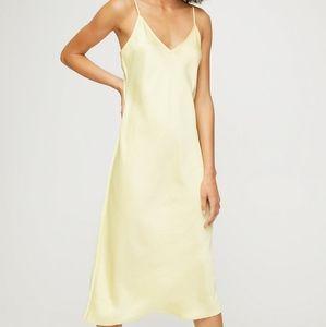 Aritzia Wilfred yellow slip dress